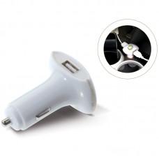 Dobbelt USB oplader til bil  med logo / tryk