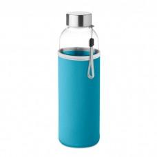 Glasflaske med Neopren Cover med logo / tryk